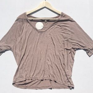 NWT Rolla Coster Beige Dolman Sleeved Rayon Top